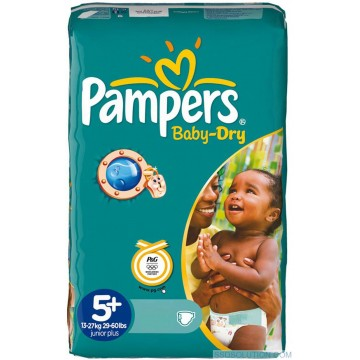 48 Couches Pampers Pampers Baby Dry Taille 5 Pas Cher Sur Cou Ches