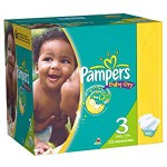 380 Couches Pampers Baby Dry taille 3