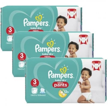 468 Couches Pampers Baby Dry Pants taille 3