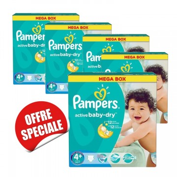 720 Couches Pampers Active Baby Dry taille 4+