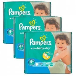 760 Couches Pampers Active Baby Dry taille 4+