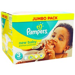70 Couches Pampers New Baby Premium Protection taille 3
