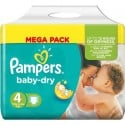 34 Couches Pampers Baby Dry taille 4