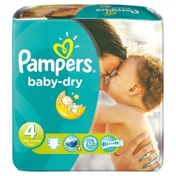 102 Couches Pampers Baby Dry taille 4