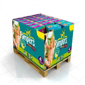 136 Couches Pampers Baby Dry taille 4