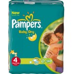 272 Couches Pampers Baby Dry taille 4
