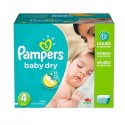 374 Couches Pampers Baby Dry taille 4
