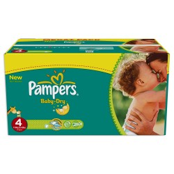510 Couches Pampers Baby Dry taille 4