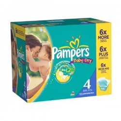 578 Couches Pampers Baby Dry taille 4