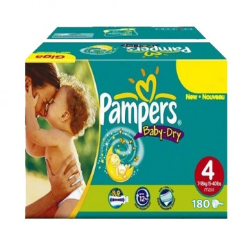 612 Couches Pampers Baby Dry taille 4