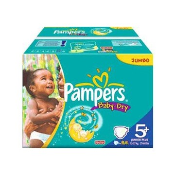 110 Couches Pampers Baby Dry taille 5+