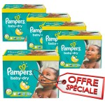 154 Couches Pampers Baby Dry taille 5+