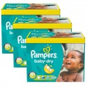 286 Couches Pampers Baby Dry taille 5+