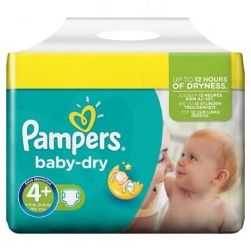 160 Couches Pampers Baby Dry taille 4+
