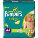240 Couches Pampers Baby Dry taille 4+