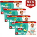 336 Couches Pampers Baby Dry Pants taille 4