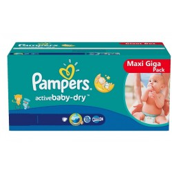 560 Couches Pampers Baby Dry taille 4+