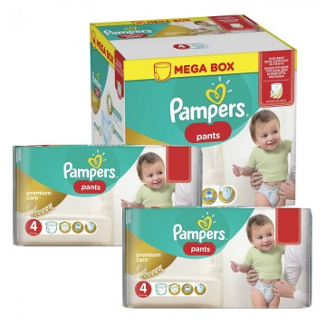264 Couches Pampers Premium Care Pants taille 4