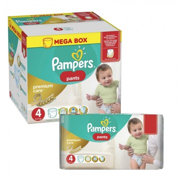 396 Couches Pampers Premium Care Pants taille 4