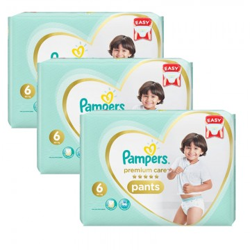 144 Couches Pampers Premium Care Pants taille 6