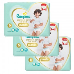 252 Couches Pampers Premium Care Pants taille 6
