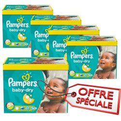 340 Couches Pampers Baby Dry taille 5+