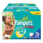 204 Couches Pampers Baby Dry taille 5+