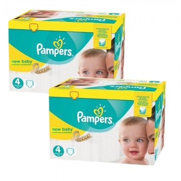 576 Couches Pampers New Baby Premium Protection taille 4