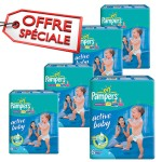 168 Couches Pampers Active Baby Dry taille 6