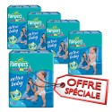 210 Couches Pampers Active Baby Dry taille 6