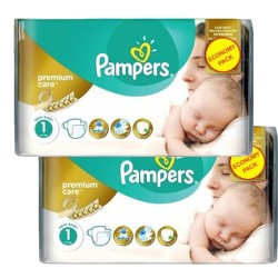88 Couches Pampers New Baby Premium Care taille 1