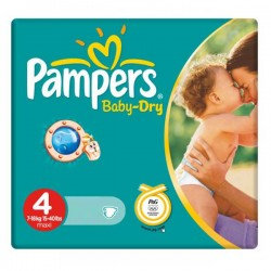 44 Couches Pampers Baby Dry taille 4