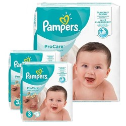 160 Couches Pampers ProCare Premium protection taille 3