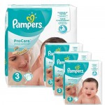 192 Couches Pampers ProCare Premium protection taille 3