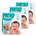 384 Couches Pampers ProCare Premium protection taille 3