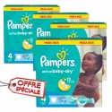 104 Couches Pampers Active Baby Dry taille 4