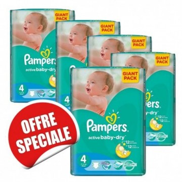 260 Couches Pampers Active Baby Dry taille 4