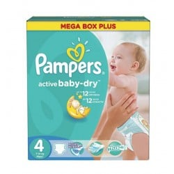 325 Couches Pampers Active Baby Dry taille 4