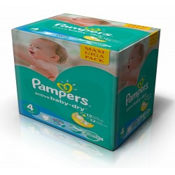 351 Couches Pampers Active Baby Dry taille 4