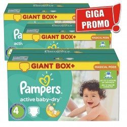 520 Couches Pampers Active Baby Dry taille 4