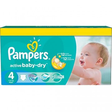 624 Couches Pampers Active Baby Dry taille 4