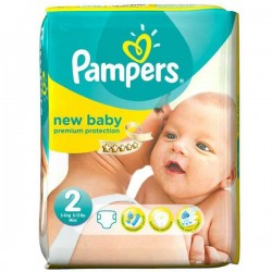 82 Couches Pampers New Baby Premium Protection taille 2