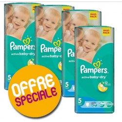 220 Couches Pampers Active Baby Dry taille 5