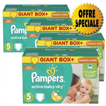 253 Couches Pampers Active Baby Dry taille 5