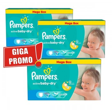 473 Couches Pampers Active Baby Dry taille 5