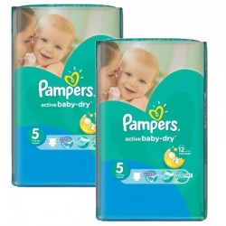 506 Couches Pampers Active Baby Dry taille 5