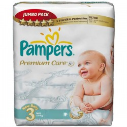 80 Couches Pampers Premium Care taille 3