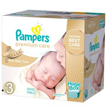 100 Couches Pampers Premium Care taille 3
