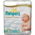 160 Couches Pampers Premium Care taille 3