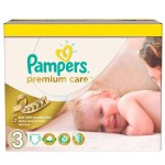 240 Couches Pampers Premium Care taille 3